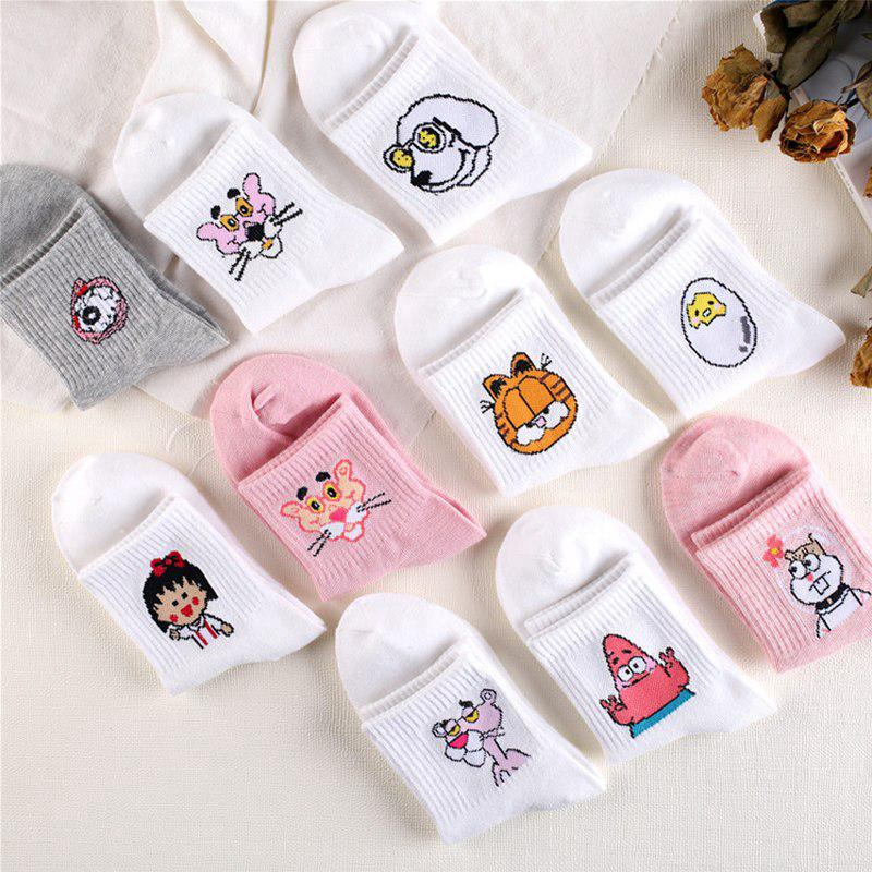 Warm Cartoon Girls Long animals Women Tube Socks Autumn Winter Lady Ankle Socks