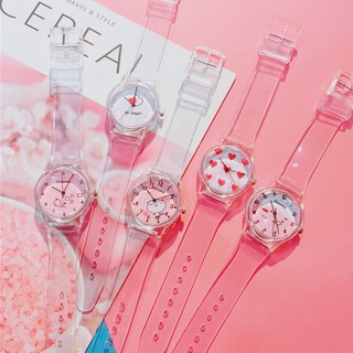 READY woman watch cute simple transparent watch casual small fresh watch jelly watch
