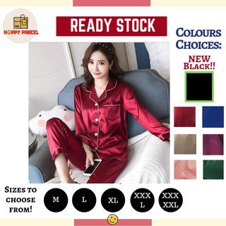 [Ready Stock] Sexy Sleepwear Pyjamas Long Sleeve Dress Baju Tidur