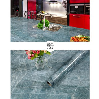 PVC Marble Self-adhesive Wall Sticker Tabletop Toilet Kitchen Cabinet Wallpaper Renovation Free Processing