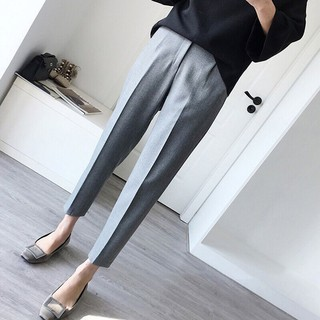 3XL Korean version of the loose student straight casual long pants