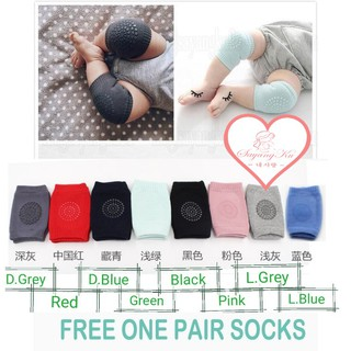 [M'sia] 🔥Free Socks🔥 One Pair Premium Baby Kids Safety Knee Pad Guard