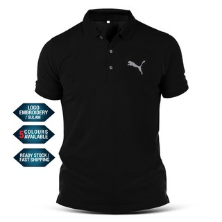 Polo T Shirt Puma Logo Sulam Racing Motorsport BMW Mercedes Ducati Ferrari Casual Streetwear Sports Team Performance