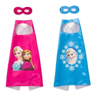Ready Stock Frozen capes pretend play party supplies for girls