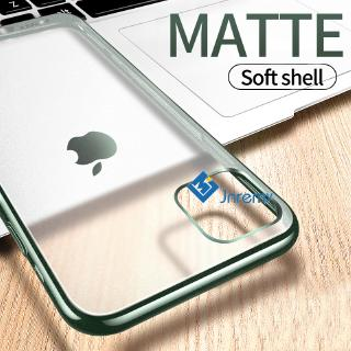 Matte Transparent Case for IPhone 11 Pro Max XR X XS Max Luxury Plating Soft Silicone Case for IPhone 7 8 6 6S Plus