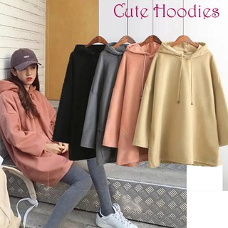 🍓Royal💯 Drop-Shoulder Long Sleeve Black Hoodies Women Hooded Oversized Hoodie
