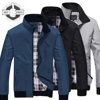【Ready Stock】 Men's Good Quality Waterproof Jacket Collar Casual Fashion