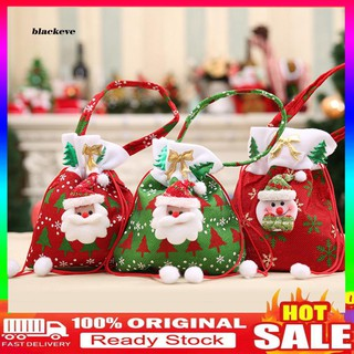 【EVE.SD】 Christmas and Halloween Snowman Santa Gift Handbag Drawstring Candy Bag Pouch Party Decor