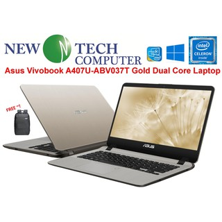 Asus Vivobook A407M-ABV037T GOLD / A407M-ABV224T ICED BLUE 14 inch Laptop(N4000, 4GB, 500GB, Intel, W10)
