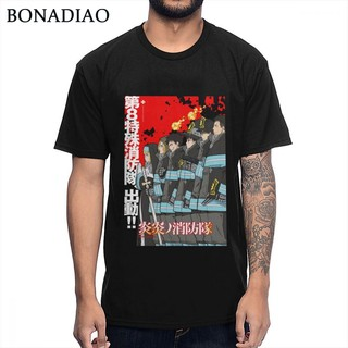 New Arrival Custom For Men Anime Fire Force Brigade Of Flames T-Shirt Cotton