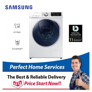 Samsung New 9KG/6KG (WD90N64FO) Front Load Washer Dryer WD90N64FOOW/FQ