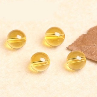 4A Natural Citrine Single Bead DIY Handmade Semi-Precious Stone Crystal Jewelry Making Material