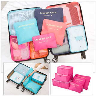 ♥ ✈️ 6 in 1 Travel Packing Clothes Storage Organizer Bag Pouch - READY STOCK ♥