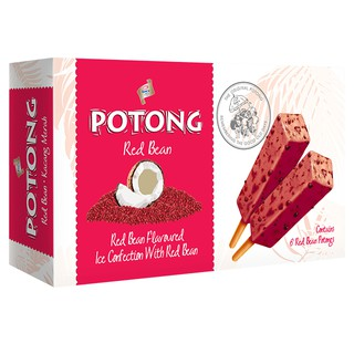 F&N King's  Potong Red Bean Flavoured Ice Cream (6's x 60ml) [KL & SELANGOR DELIVERY]