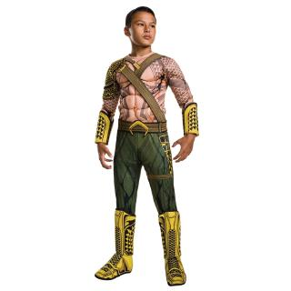 Deluxe Child Muscle Dawn of Justice Aquaman Halloween Costume Boys DC Justice League Superhero Cosplay Dress-up