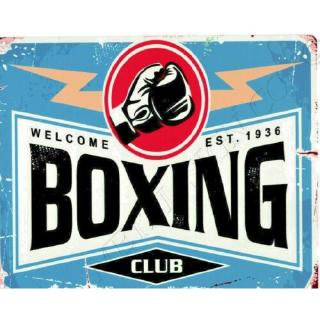 Boxing Club Metal Wall Sign Small Games Room Man Cave Pub Bar Shed Shop Sports