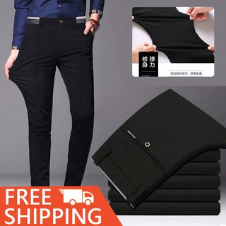 Men's Business Office Formal Stretchable Flexible Slimfit Casual Seluar Long Pants
