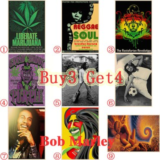 Retro poster Bob Marley series 2 Wall stickers home