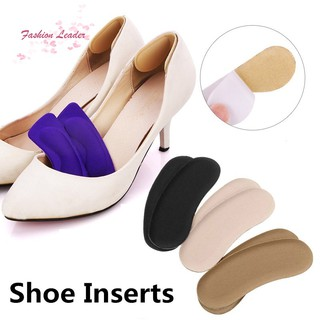 Clothingshoesaccessorie Black Sticky Fabric Shoe Heel Inserts Insoles Pads