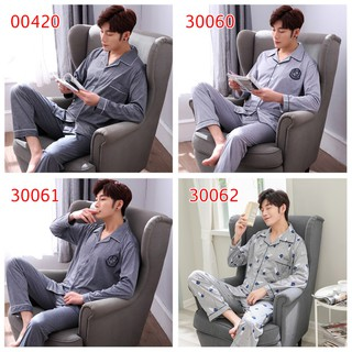 Men Pyjamas 12 Design Cotton Men's Pajamas Long Sleeve Korean Sleepwear Men's Clothing Homewear For Male Nightwear