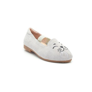 ELISA LITZ SEAL FLATS - KIDS - GREY AND WHITE