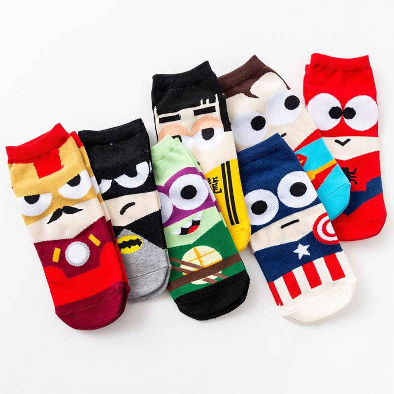 Fashion Cartoon Man Women Unisex  One Size 36-42 Socks Ankle Cotton Socks Sports Socks