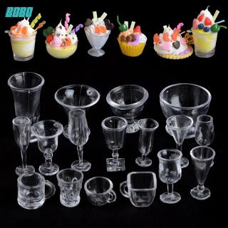 [Bobo] Delicate Ice Cream Sundae Cup Bar Decorative Arts Mini Wine Cups Dollhouse Miniature Cups Plastic