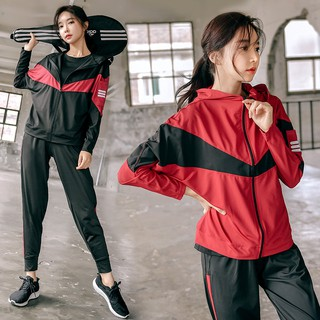 Sports loose fat mm200 kg autumn and winter tide gym running casual women