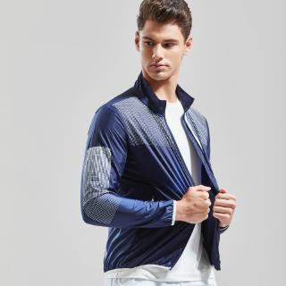 Summer and autumn new men's European and American style Slim sports thin section personality design stand collar jacket