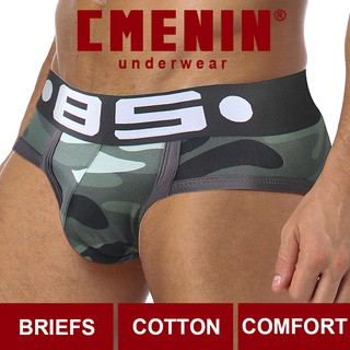 [Ready Stock] Sexy Men Underwear Briefs Cotton Breathable Camouflage BS141