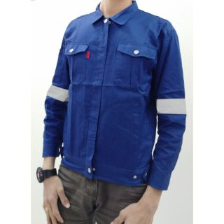 PPE Button Safety Jacket Workwear With Reflector