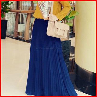 Pleated Skirt Heavy Crepe | Skirt Palas Labuh | mamabie2u