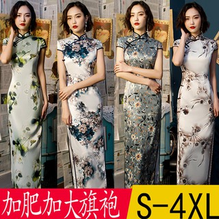 Source Manufacturers Wholesale Aiqi Embroidery Fashion Improvement Long Large Size Cheongsam Summer New National Chinese