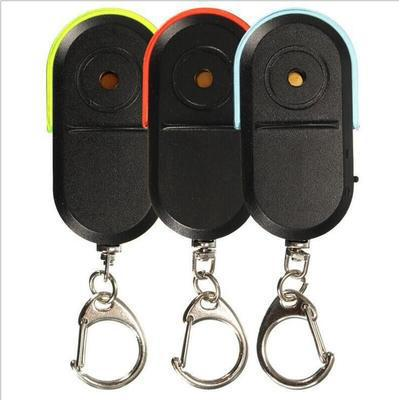 Wireless 10m Anti-Lost Alarm Key Finder Locator Keychain Whistle Sound with LED Light