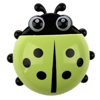 Convenient Bathroom Toothbrush Stuff Ladybug Wall Suction Holder-Green