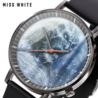Miss white hot sale rights game collection watch fashion student trend quartz wa