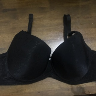 40D SCARLET padded wired black bra