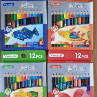 VNEEDS 12PCS COLOURED PENCIL X 6 BOX (72PCS)