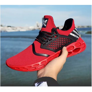 【Ready stock 】Men/Women's Running shoes Fashion Casual Flyknit Lace up sneakers sport shoes
