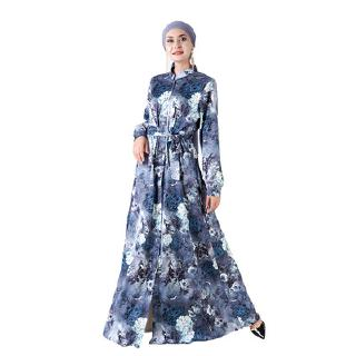 [high end] cross border special for Amazon Exclusive 3D digital printing long sleeve dress National Women's wear