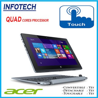 Acer aspire S1002 Intel Quad Cores, 32gb, Touch, W10, 2 in 1 Detachable Convertible Windows Tablet LAPTOP Refurbished
