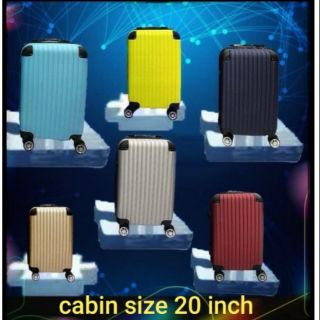 Luggage ABS suitcase 20 inch ready stock