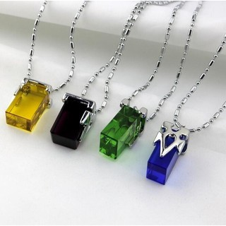 Sword art online transfer crystal four-color cosplay jewelry pendant necklace