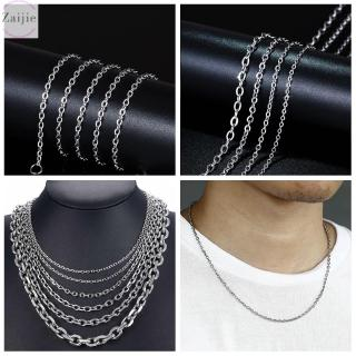 ZAIJIE Women Men Fashion Cool Punk Gothic Silver Color Stainless Steel Necklace