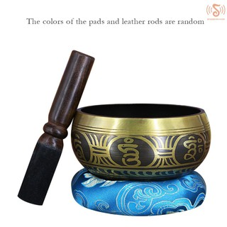 ready stock  Copper Buddha Sound Bowl Yoga Tibetan Singing Bowl Religion Belief Home Decoration 150mm