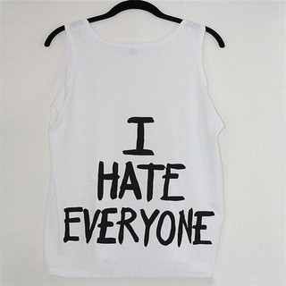Women I Hate Everyone Letters Printed Casual Tank Ladies Sleeveless Beach Vest