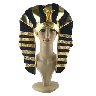 Halloween props adult indian feather headdress egypt pharaoh hat cos primitive man chief accessories
