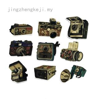 jingzhengkeji Retro Waterproof Camera Graffiti Sticker For Car Motorcycle Trunk Laptop Skateboard Notebook 9Pcs
