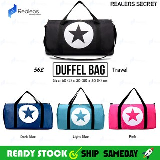 Realeos 56L Large Capacity Star Duffel Travel Leisure Luggage Bag - R326