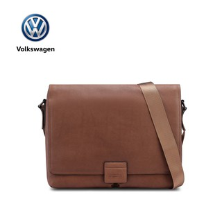 VW GENUINE LEATHER MESSENGER BAG VTT 61 BROWN